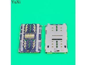 YuXi 2pcs SIM card reader socket slot tray connector for Huawei enjoy 6 play 6S 7plus 7 plus TRT-AL00 honor 5C memory SD TF