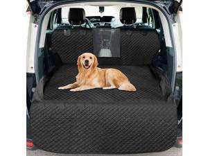 Dog Cargo Liner ,Waterproof Dog Car Seat Cover Mat with Mesh Window, Nonslip Trunk SUV Cargo Liner for Dogs, Heavy Duty Washable Pet Cargo Cover with Bumper Flap - Universal Fit
