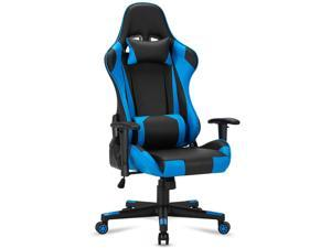 Gaming Chair Computer Game Chair Office Chair Ergonomic High Back PC Desk Chair Height Adjustment Swivel Rocker with Headrest and Lumbar Support Lumbar Pillow
