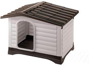 Erommy Waterproof Ventilate Pet Kennel with Air Vents and Elevated Floorfor Indoor Outdoor