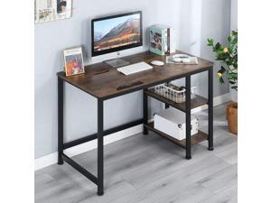 """Erommy 47"""" Multi-Function Drafting Drawing Table with 2-Tier Storage Shelves Computer Desk with Adjustable Tiltable Stand Table Board for Artist, Home Office"""