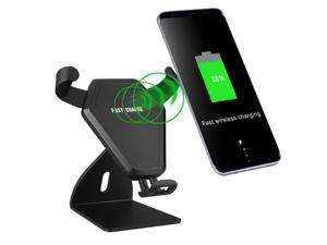 Multipurpose Car Mount Qi Wireless Charger for iPhone Samsung Quick Charging Pad Holder Stands 10W