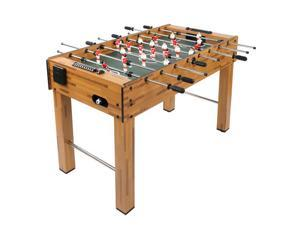 48 Inch Football Table with Plastic Cup Holder, Log Color