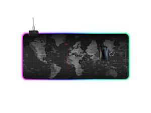 Efinny LED Backlight Gaming Mouse Pad RGB Colorful Computer Mat Large PC Keyboard Mousepad 300*700*4mm