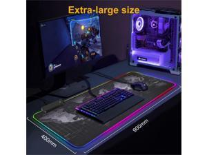 Efinny LED Backlight Gaming Mouse Pad RGB Colorful Computer Mat Large PC Keyboard Mousepad 400*900*4mm