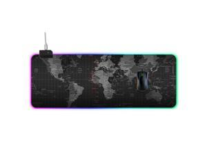 Efinny LED Backlight Gaming Mouse Pad RGB Colorful Computer Mat Large PC Keyboard Mousepad 300*800*4mm