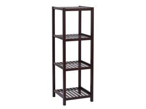 Balight Four-Layer Shelf shoe rack plant stand  made from thick bamboo Wood Color
