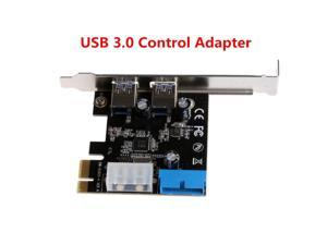 Computer Accessories PCI Express USB 3.0 2 Ports Front Panel With Control Adapter Card 20 Pin Expansion Card
