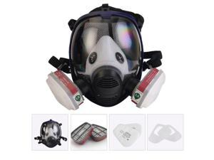 Brightup 360 degrees Face Respirator, Wide Field of View Full Face Lightweight Respirator Painting Spraying Decoration Woodworking Gas Respirator