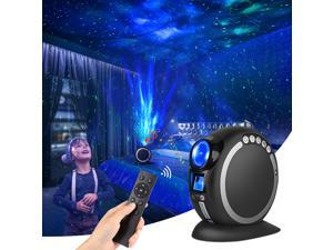 Brightup Latest Upgrade LED Laser Star Projector, Galaxy Lighting Bluetooth Speaker ,Nebula Lamp with Remote Control for Gaming Room, Home Theater, Bedroom Night Light, or Mood Ambiance,Black