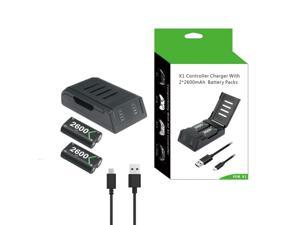 Brightup Charging Dock For XBOX ONE Handle X ONE S Controller Charger with 2 Battery /Pack