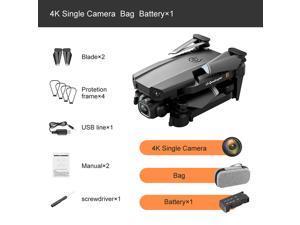 2021 NEW Rc Drone 4k HD Wide Angle Camera WiFi fpv Drone Single Camera Quadcopter + Storage Case