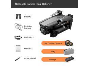 2021 NEW Rc Drone 4k HD Wide Angle Camera WiFi fpv Drone Dual Camera Quadcopter + Storage Case