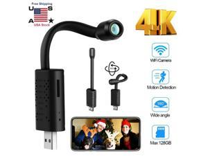 Smallest Spy Camera Wireless Hidden WiFi,Portable USB IP HD Nanny Camera with AI Human Motion Detection,Cloud Storage,Live Feed Streaming,Remote Viewing for Security on iOS,Android Phone APP