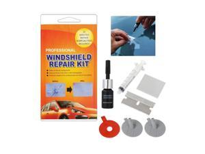Car Windshield Repair Kit - Windshield Repair Kit with Pressure Syringes for Fix Windshield Chips, Cracks, Bulls-Eye, Star-Shaped and Half-Moon Cracks