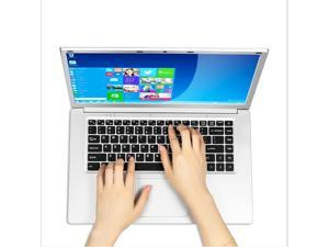 OUDU-OD08A 15.6inch Silver Laptop Intel Celeron Processor J3455 Up to 2.3GHz 16GB DDR3 RAM 240GB SSD Windows 10 Office Work Notebook Computer