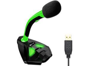KLIM™ Voice Desktop USB Microphone Stand for Computer Laptop PC - Gaming Mic PS4 - New 2020 Version - Green