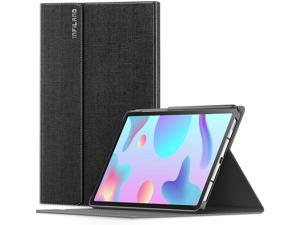 INFILAND Galaxy Tab S6 Lite Case, Multiple Angle Stand Case Fit Samsung Galaxy Tab S6 Lite 10.4 Inch Model SM-P610/P615 2020 Release Tablet [Auto Wake/Sleep], Black
