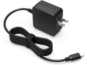 19V Type C AC Charger Fit for LG Gram 16 17Z90N 16Z90P 16T90P 15Z90N 14Z90N 14Z90P 17Z90P 17Z90N-R.AAC8U1 17Z90N-V.AA55A8 45W USB C Connector Laptop Adapter Power Supply Cord