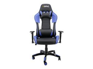 Goaic Gaming Chair 180° Reclining with Backrest and Seat Height Adjustable Swivel Recliner with Headrest and Lumbar Pillow Support Gaming Chair for Home, Office, PC Gaming Desk Chair (Black/Bule)