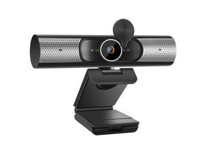 Goaic 1080P QHD Webcam with Microphone & Privacy Cover for PC Desktop Laptop, Autofocus Computer Web Camera USB 2.0 Plug & Play for Live Streaming, Video Calls, Online Lessons, Conference, Games