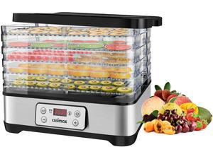 Food Dehydrators Machine, Dryer Dehydrators for Food and Jerky with Digital Time & Temperature Control, Fast Drying for Beef Jerky, Fruits, Vegetables, BPA Free, Overheat Protection