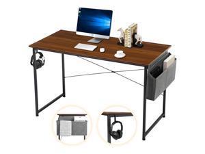 "Sengo 47"" Gaming Desk Computer Desk Home Office Desk Work Table Study Writing Table Workstation Desk for Home Office Furniture Brown"