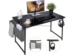 """Sengo 47"""" Gaming Desk Computer Desk Home Office Desk Work Table Study Writing Table Workstation Desk for Home Office Furniture Black"""