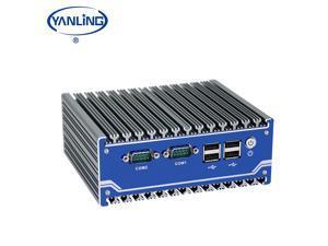 Fanless Industrial Mini PC ,Rugged Computer Intel Celeron J1900 Quad Core Processor Mini Computer, with 4USB2.0/4COM port/1SIM Slot 4G RAM 128GB SSD