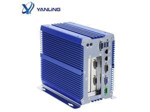 Industrial PC , Intel I5 7200U Fanless Industrial Computer, IPC Mini PC, Windows 10 Pro with 6 USB 9 to 36V 2 PCI or 1 PCIE 4X 1 PCI 2 Intel LAN 3G 4G WiFi Support SIM Slot 16G RAM 128G SSD