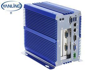 Fanless Industrial PC , Intel Celeron 3865U Rugged Computer, IPC Mini PC, Windows 10 Pro with 6 USB 9 to 36V 2 PCI or 1 PCIE 4X 1 PCI 2 Intel LAN 3G 4G WiFi Support SIM Slot 8 G RAM 128G SSD