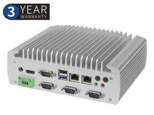 Fanless Industrial PC,Embedded Mini Computer,IPC,Intel Celeron J1900 ,Quad core quad threading, Windows 10 Pro/Linux, HDMI/5USB2.0/1USB2.0/2LAN/6COM/DC/Mic,(8G RAM/128 G SSD)