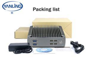 Yanling Industrial Computer, Fanless Indsustrial Mini PC,Intel i3-6100U ,Rugged Desktop PC With VGA, HD,6COM,6USB, Intel HD Graphics 510/520,- Barebone system (NO RAM,NO SSD,NO OS)