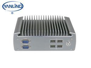 Yanling Industrial Mini Computer, Fanless Indsustrial PC,Intel i5-6200U ,Rugged Desktop PC With VGA, HD,6COM,6USB, Intel HD Graphics 510/520,- Barebone system (NO RAM,NO SSD,NO OS)