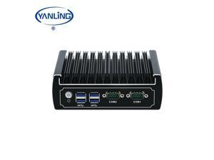 Embedded computer Intel Core i3 7020U Fanless Mini PC 1*DDR4 RAM 1* M.2 Slot WIN10 Industrial PC Windows10 Pro_Barebone system No ram/No SSD/HDD