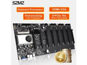 BTC-37 ETC Miner Mobo Mining Motherboard Integrated 8GPU Slot DDR3 Memory Type VGA HDMI PCIE 16X Bitcoin Motherboard