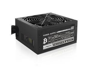 20+4 Pin Silent Noise Reduction Miner/PC GPU ATX 1800W Mining Power Supply 80 Plus Gold Designed for US Voltage 110V 1800w Mining ETH PSU Max Support 8 Graphics