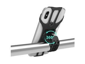 Minthouz Bike Phone Mount, 360 Rotation Silicone Bicycle Phone Holder, Universal Motorcycle Handlebar Mount for iphone 12 Pro/12/11/X, Samsung Galaxy S20 Google Pixel, etc. 4.5''-7'' Phones