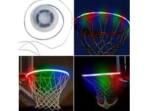 Cicony LED Basketball Hoop Lights, Solar Powered Basketball Rim LED Light Basketball Net Accessories for Adults Kids Party