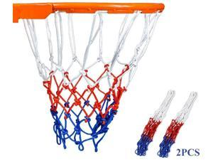 KRABICE Basketball Net Replacement 2pcs, Strong & Durable Nylon Basketball Hoop Net Accessories for Outdoor Indoor Sports 12 Loops