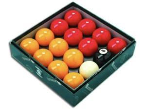 """Aramith Premier Red-Yellow 2"""" Pool Balls with 1 7/8"""" White"""