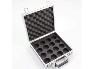 """Hard Aluminium English Pool Ball Carrying & Storage Flight Case for 2"""" Balls - holds 16 x 2 Inch pool balls - Ideal for storing your league pool balls - has a deep foam interior to hold balls tight"""