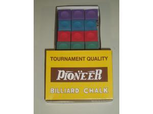 BOX 12 PIECES MIXED COLOURED PIONEER CHALK **