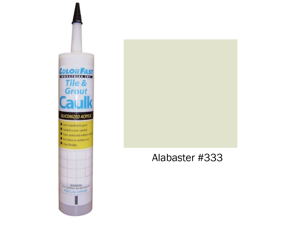 ColorFast Colored Caulk made to match CBP Alabaster - Sanded Texture