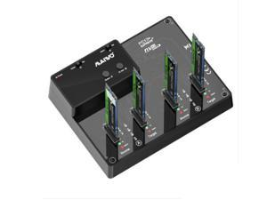 MAIWO K3015P2 4-Bay NVME Docking Station, Tool-Free Type- C to NVME SSD Enclosure, Support Offline Clone duplicator and System Disk Clone Function.