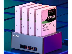 MAIWO K3084 Mobile Hard Disk Box Base 3.5-Inch Four-Disk External Desktop Notebook Serial Port Mechanical Solid-State Hard Drive Duplicator