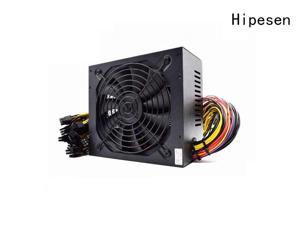 Hipesen Bitcoin Mining Power Supply PSU 1600W 110V-240V 80 Plus Gold for 1600W Mining Ethereum Rig Support 8 Graphics with 1.0m² Power Cord
