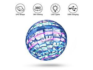 Flying Ball Toys Globe Shape Magic Controller Mini Drone Flying Toy, Built-in RGB Lights Spinner 360° Rotating Spinning UFO Safe for Kids Adults Magic Flying Toys Outdoor Indoor