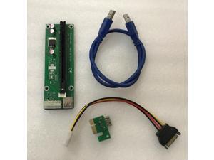 ETH ETC ETN ZCASH XMR Miner riser cable extension cable USB3.0 PCI-E the 60cm riser for R9 380 RX 470 RX480 6 GPU CARDS