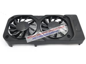 FD8015H12S DC12V 0.32A for palit geforce gtx 1050 ti dual Graphics card cooling fan 1set (shell + 2pcs)